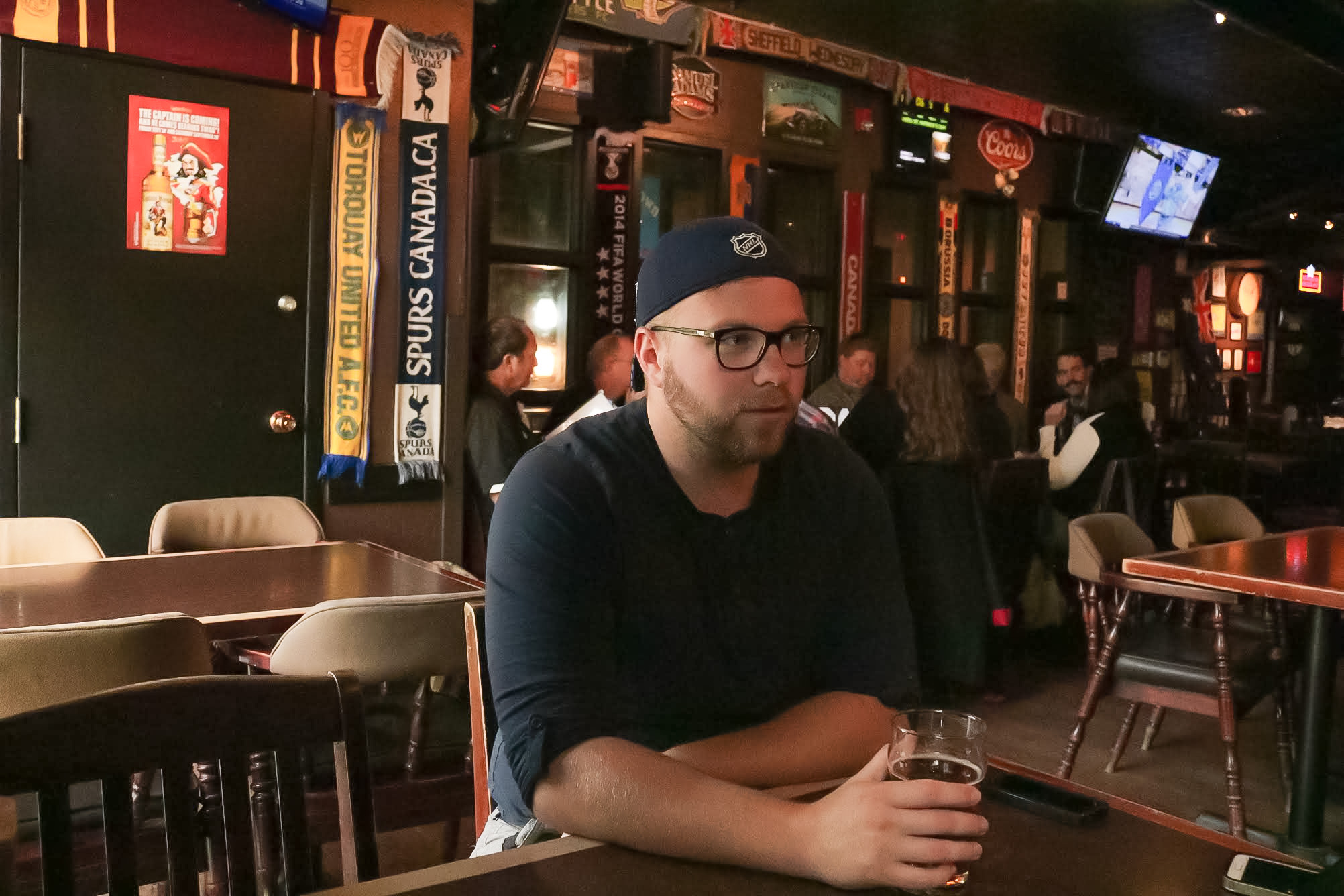 At the Kings Head Pub, Jordan Welwood discusses his upcoming performance at SiriusXM's Top Comic. THE PROJECTOR/Taylor Isham