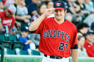Winnipeg Goldeyes catcher Ryan Babineau. SUPPLIED/Tara Miller.