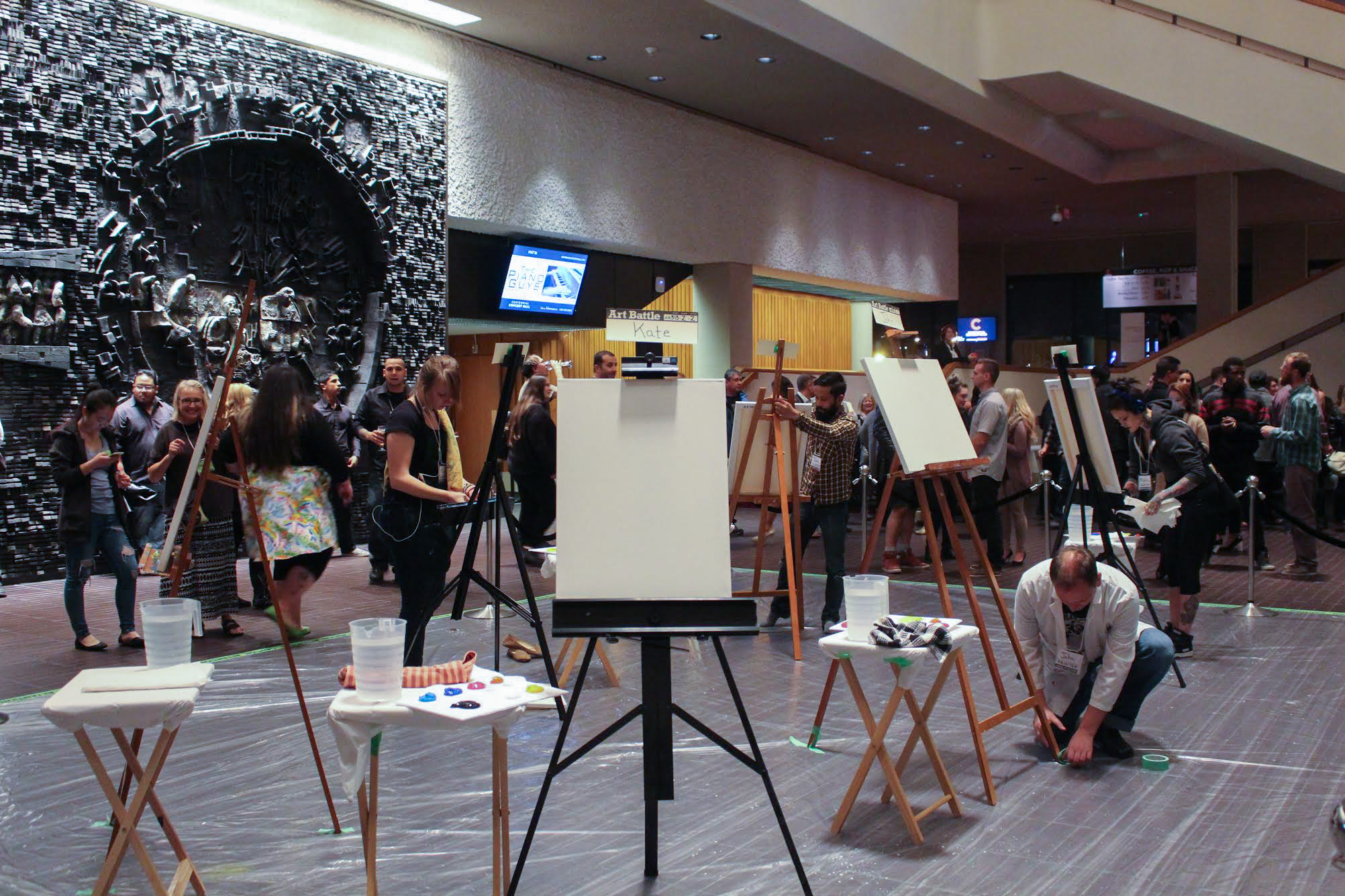 Art Battle draws first blood