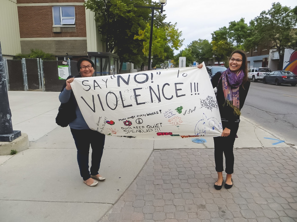People gathered for Take Back the Night Winnipeg 2014./PHOTO SUPPLIED BY MANDY FRASER