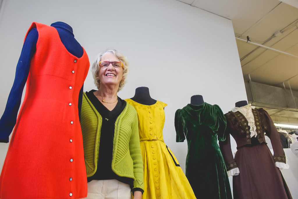 Maralyn MacKay readies dresses from the 1880s to the 1970s for the Costume Museum of Canada's latest exhibit. THE PROJECTOR/ Rachel Carlson