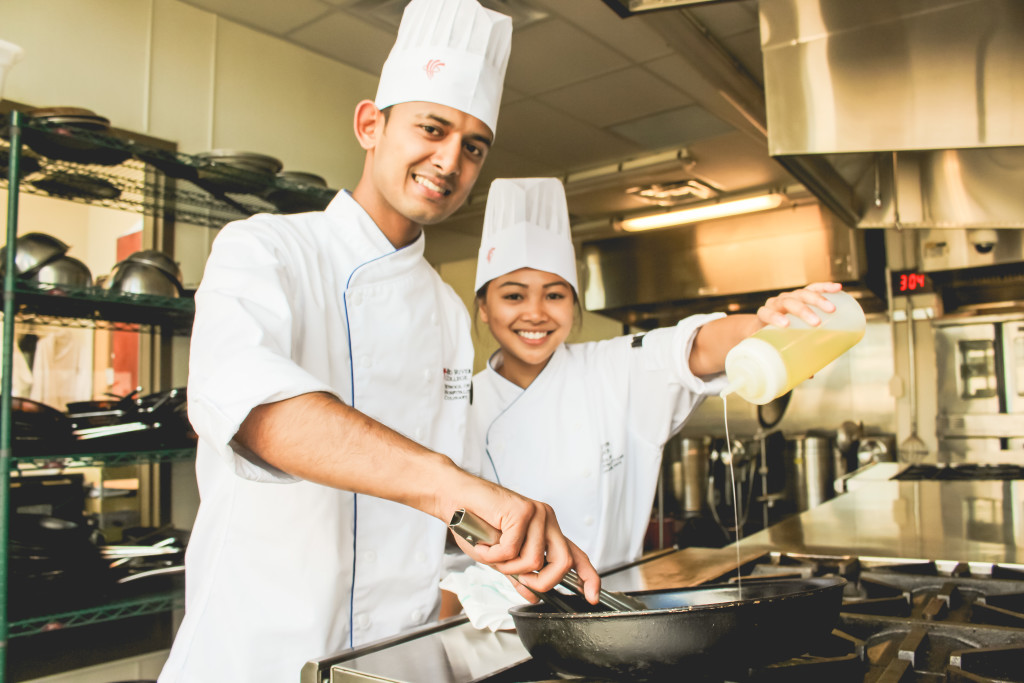 Krunal Patel and Coleen Antonio won third place during their four-month international culinary program. THE PROJECTOR/Stefanie Lasuik