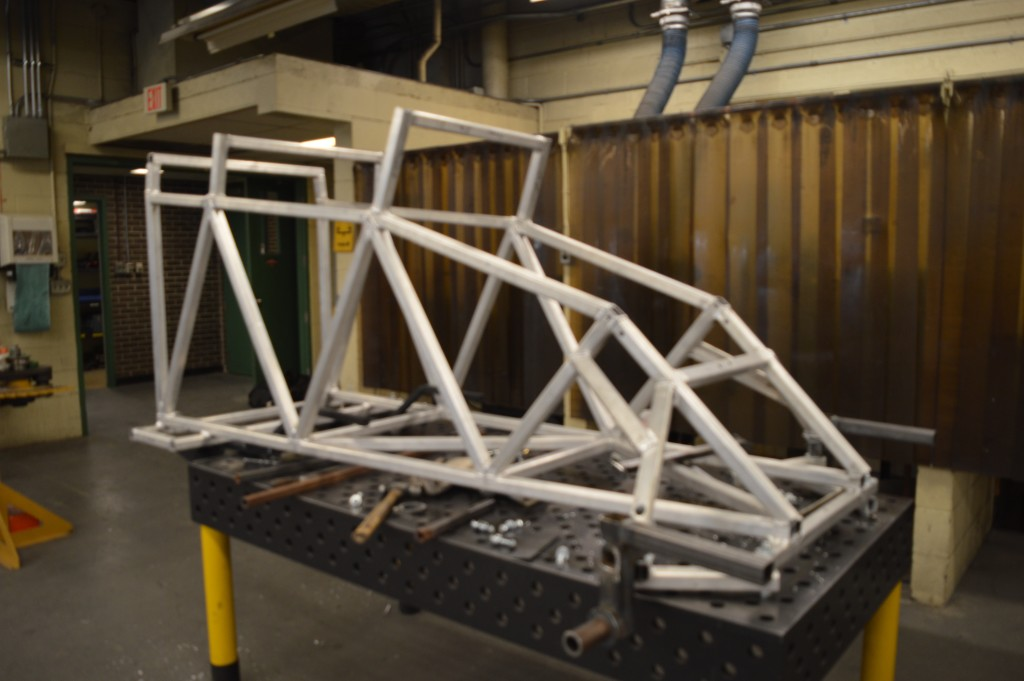 Engineering students from across Canada will be racing 350-pound toboggans made from concrete, aluminum, and steel in Ottawa Jan. 30. THE PROJECTOR/Alicia Kondrat