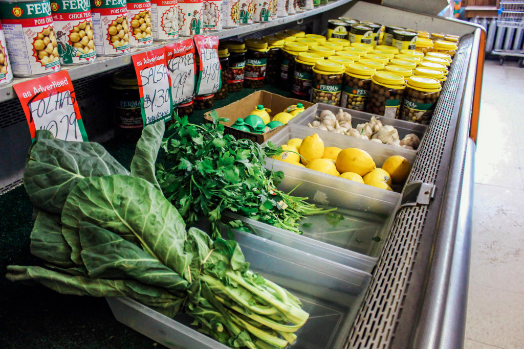 Limited produce is available at the Portuguese Fish & Food Market at 460 William Ave. It's one of the smaller grocers in Winnipeg's centre. THE PROJECTOR/ Catherine Ryczak