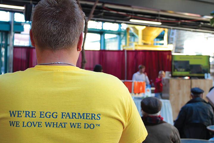 The Manitoba Egg Farmers were a proud representative at Discover Agriculture in the City on March 18 and 19. THE PROJECTOR/ Spencer Myers