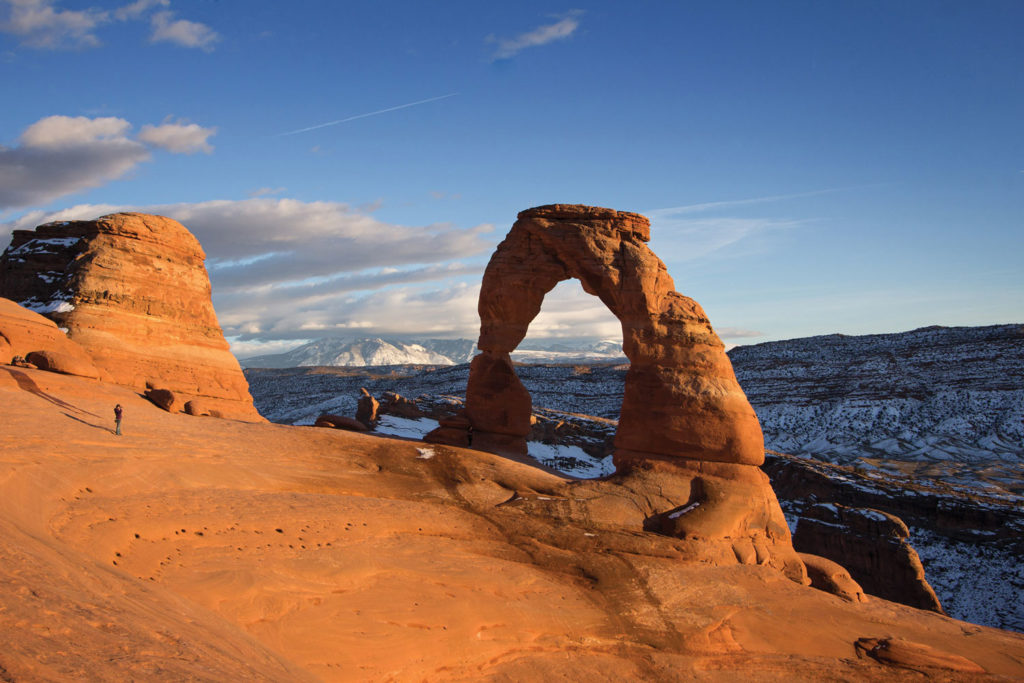 A participant stands in front of the Delicate Arch at Arches National Park in Moab, Utah. SUPPLIED/ Rodney S. Braun