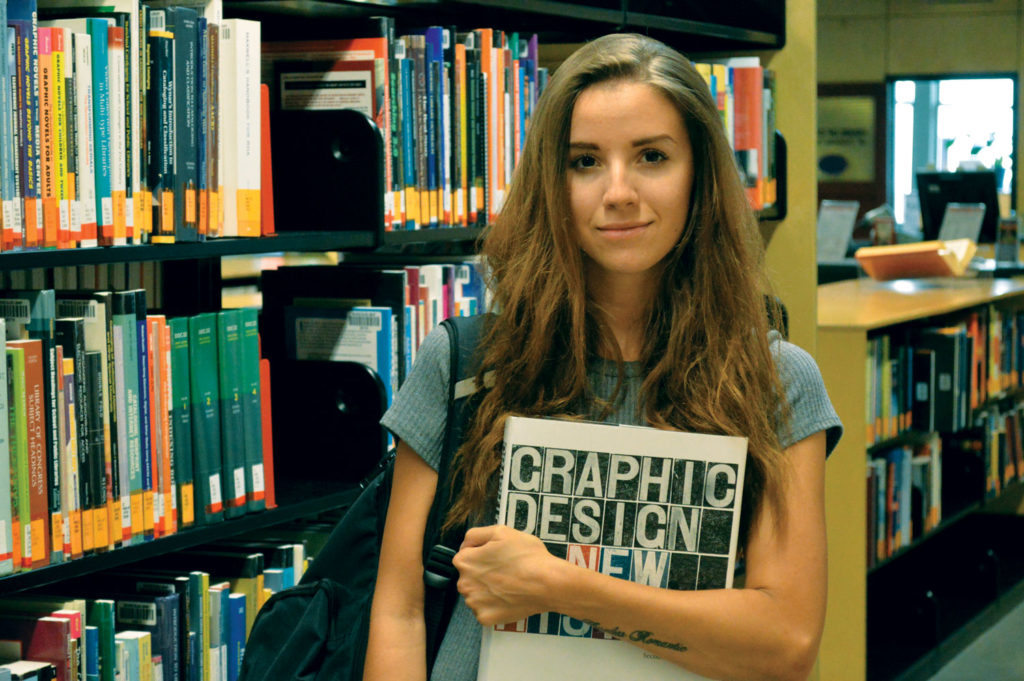 First year graphic design student Lidia Bahadori believes college isn't possible without student aid. THE PROJECTOR/ Keila DePape