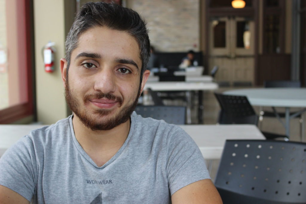 Wasim Alkabani is the second student RRC has accepted through the student refugee program. THE PROJECTOR/ Vikki Derksen