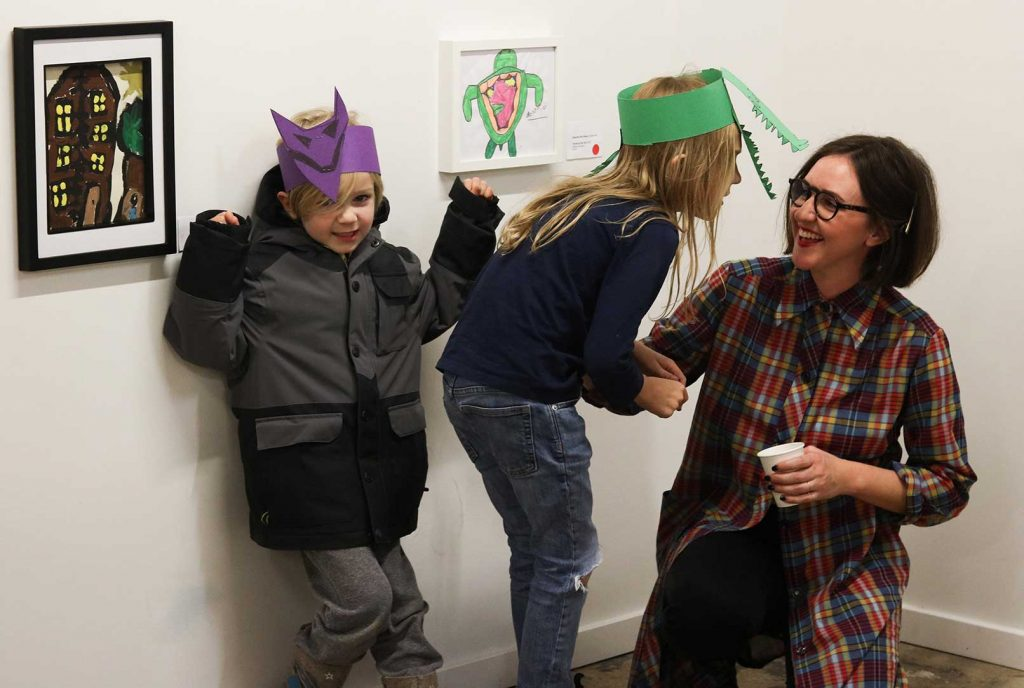 Amy Zacharias at Minipeg Art Party at Forth November 19 2017.