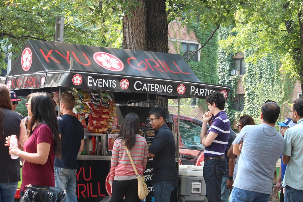 Queuing up—Kyu Grill is one of more than 20 food vendors of ManyFest 2015. The Projector/Rachel Carlson