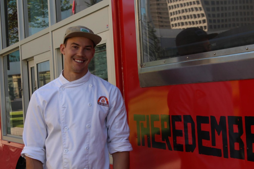Quin Ferguson, co-owner of The Red Ember, has his Food Truck Wars game-face on. The Projector/Rachel Carlson