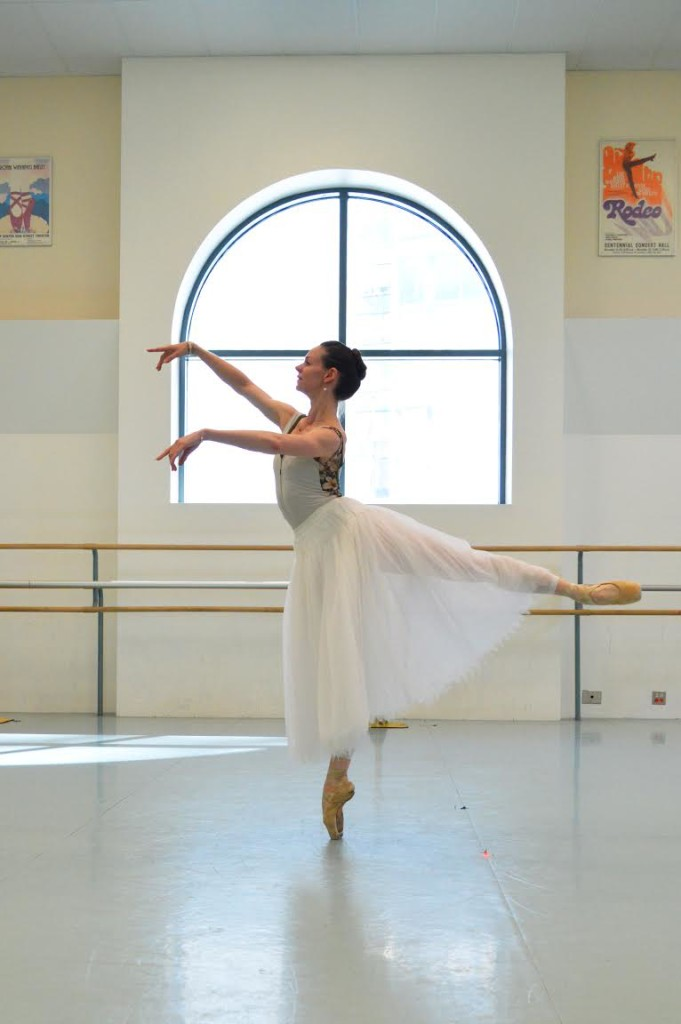 Jo-Ann Sundermeier practices for her starring role in the Royal W innipeg Ballet's per formance of the classical ballet Giselle. SUPPLIED/Amy Simoes
