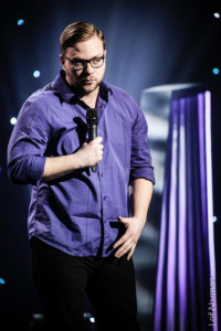 Winnipeg comedian, Jordan Welwood performing at the Winnipeg ComedyFestival in August. SUPPLIED