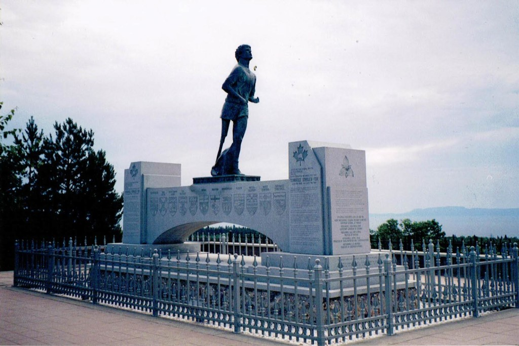 The Terry Fox Monument stands outside Thunder Bay, Ont., near where Terry Fox ended his nearly 5,400 km run on Sept. 1, 1980. SUPPLIED/Bryan Doiron.