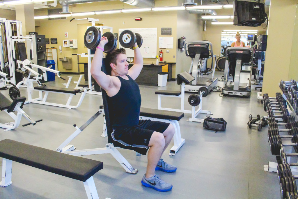 RRC business administration student Nick Mykietowich works out at the Exchange District Campus. File photo. THE PROJECTOR/ Danielle Doiron