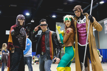 One of the biggest attractions at C4 Winnipeg is seeing people cosplaying as characters from movies or comic books. This group came as their favourite X-Men (from left to right) Magneto, Cyclops, Rouge and Gambit. THE PROJECTOR/ Jason Dueck