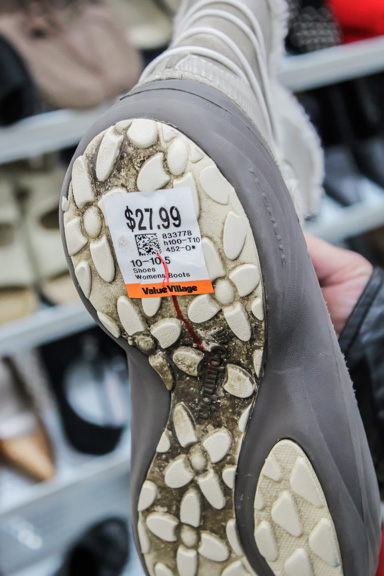 RRC students are saying some prices at Value Village are too high, like this boot. THE PROJECTOR/ Savannah Kelly