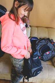 Callie's Backpacks for Winnipeg's Homeless is trying to fill 500 bags by December . THE PROJECTOR/Kaitlin Vitt