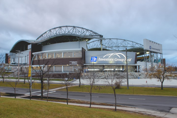 Investors Group Field will host the Grey Cup for the first time since the facility opened in 2013/ THE PROJECTOR, Nolan Kowal