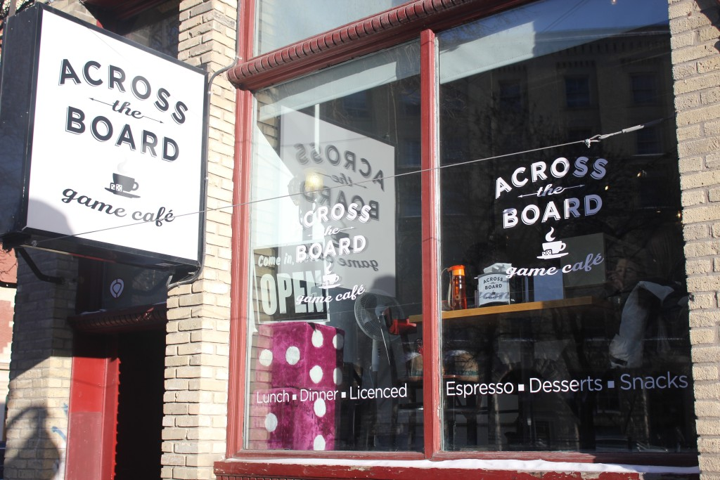 Across the Board Game Café is one of two tabletop game venues in Winnipeg. The restaurant and coffee house offers more than 800 different board games to play. THE PROJECTOR/ Madelaine Lapointe