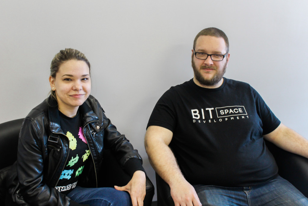 Daniel Blair (right) and Chiarello Passamani have been working together since Bit Space Development Ltd. was founded. They were also students together in the BIT program at Red River College. THE PROJECTOR / Jonathan Pirrie