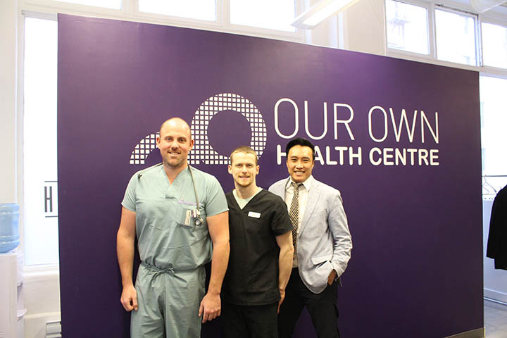 Dr. Leon Waye, Ian Kielly, and Roger Tam provide a variety of services at the Our Own Health Centr e in the Exchange District. THE PROJECTOR/ Lexi Myers