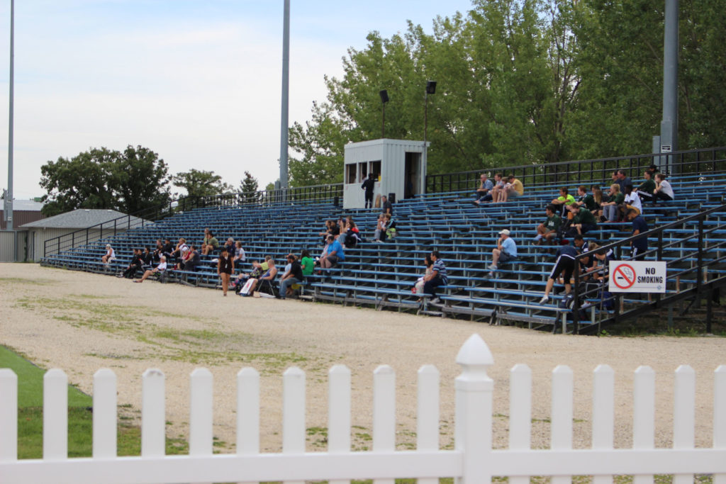 Only a handful of spectators fill the stands at an RRC Rebels game. THE PROJECTOR/ Jonathan Wade
