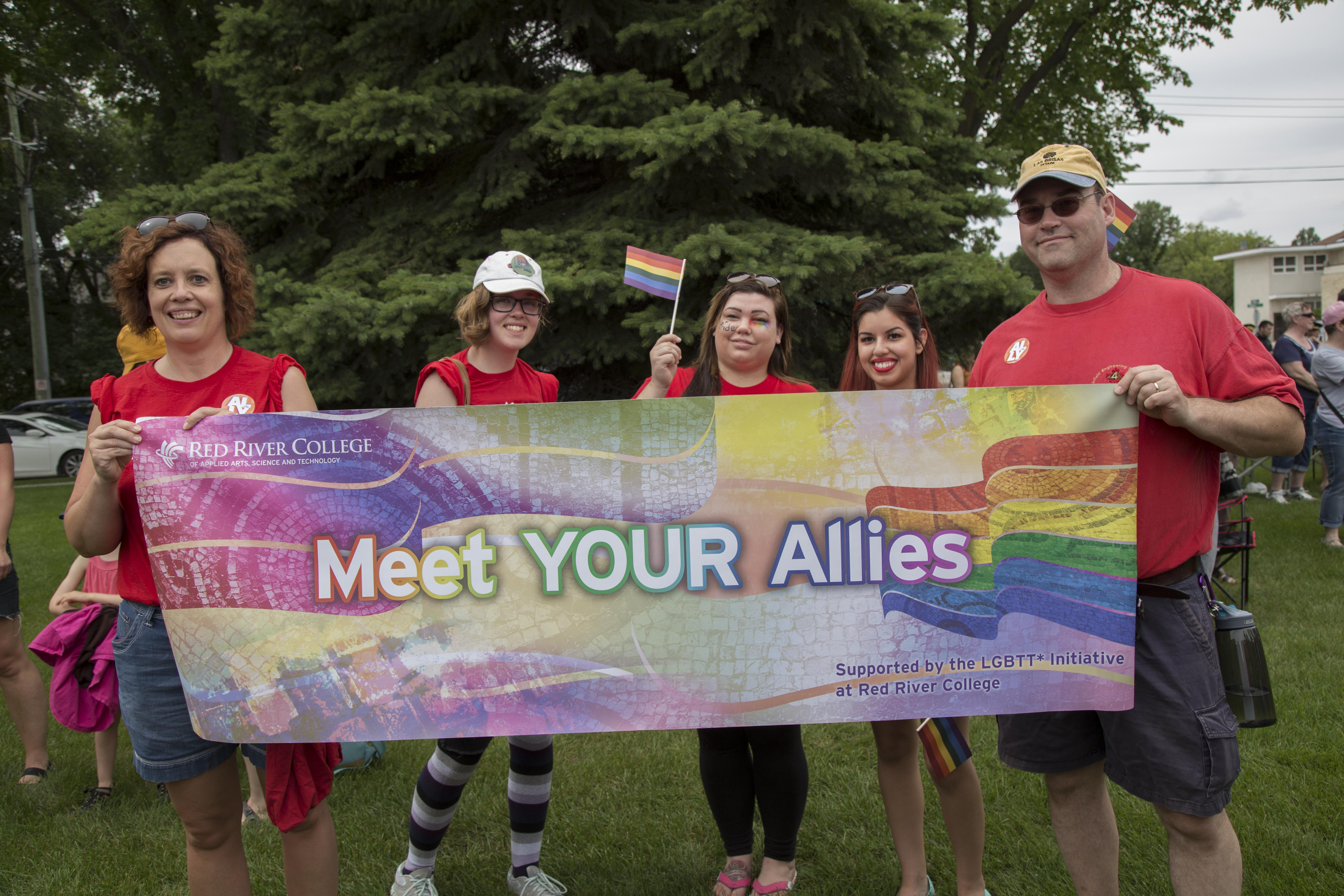 Despite controversy, Red River College's LGBTT* Initiative breaks ground by participating in Steinbach, Manitoba's first ever Pride Parade on July 9, 2016. SUPPLIED/ Red River College
