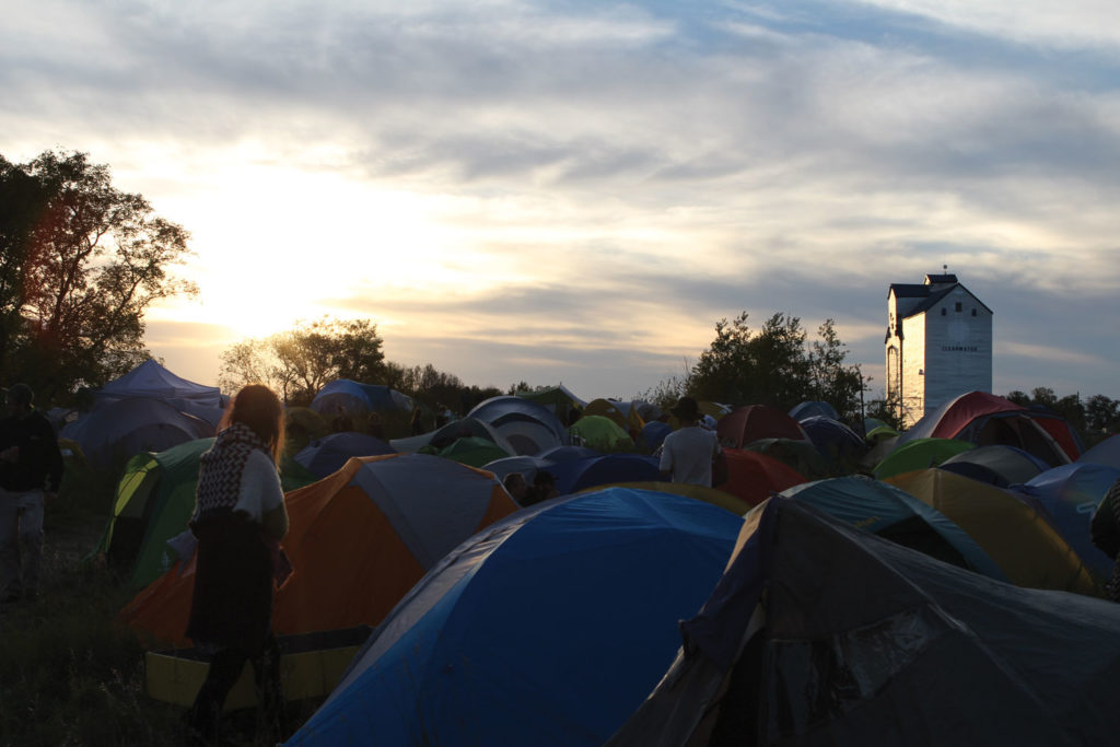 A sea of tents covers the western half of Clearwater, MB as 1500 people come to town for the Harvest Moon Festival. THE PROJECTOR/ Jennifer Doerksen