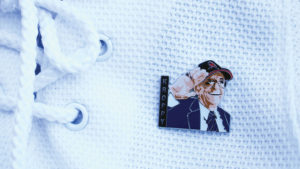 The limited edition Kroppy pin has been selling out since his death. THE PROJECTOR/ Haley Hayward