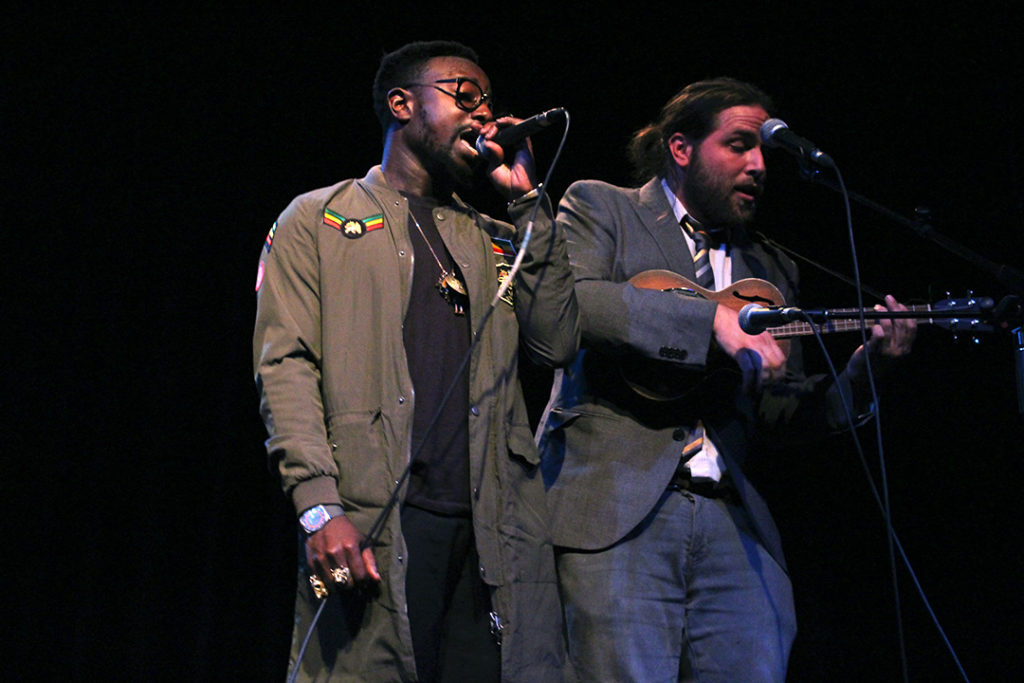 Ian Keteku performs about modern love and technology with some backup ukulele at the Garrick Theatre on October 20, 2016. THE PROJECTOR/ Jennifer Doerksen