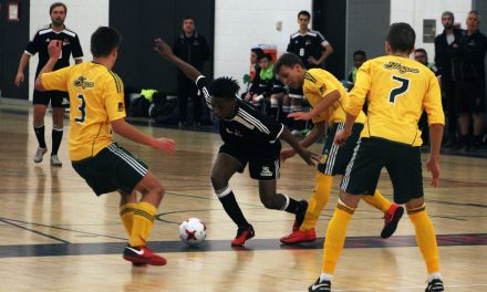 Men's Futsal team battling for playoff spot