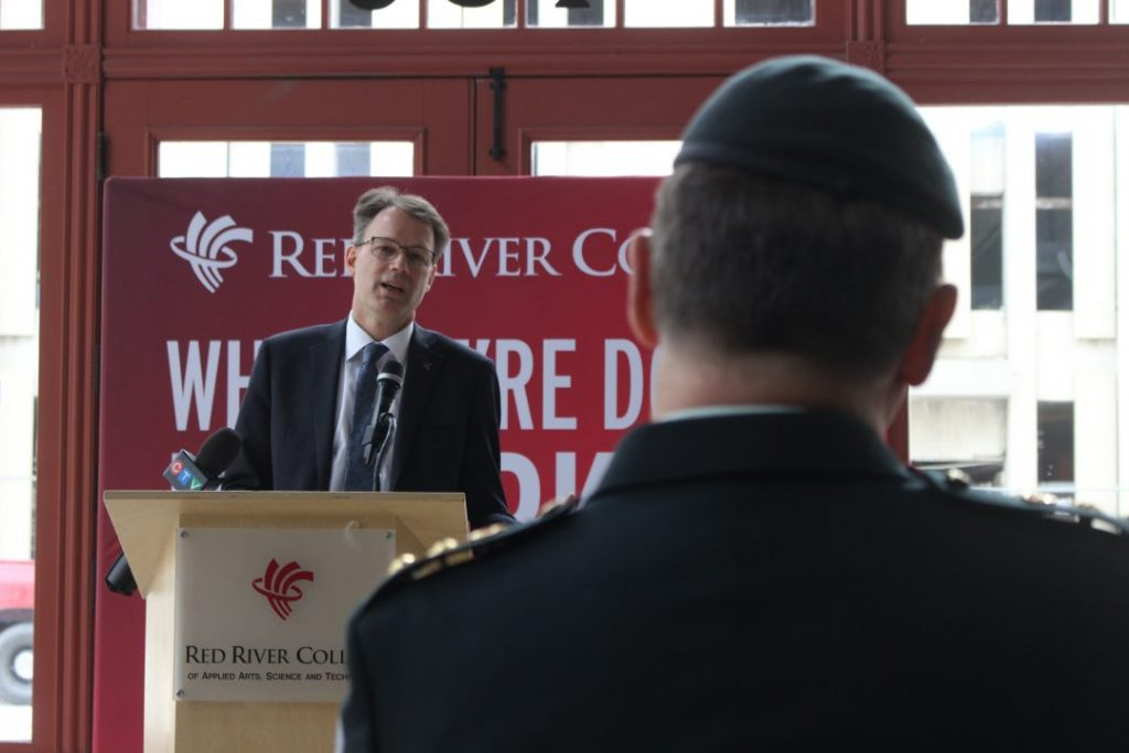 Paul Vogt speaks at Red River College