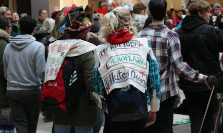 Climate Protesters Confront Black Friday Sales at CF Polo Park